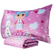 Lalaloopsy Twin Micro Mink Fitted Sheet and Pillowcase