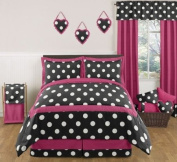 Hot Dot Modern Childrens and Teen Bedding by Sweet Jojo Designs 3pc Full / Queen Set
