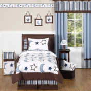 Stars and Moons Kids Bedding 4pc Boys Twin Set by Sweet Jojo Designs