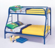 C Style Blue Twin Over Full Bunk Bed by Coaster Furniture