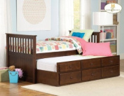 Twin/Twin Trundle Bed of Zachary Collection by Homelegance
