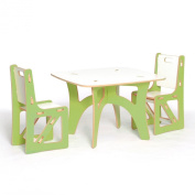 Sprout Kids Table and 2 Chairs, Green and White