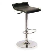 Winsome Wood Single Adjustable/Swivel Backless Air Lift Bar Stool-Black