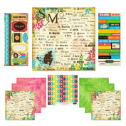 Scrapbook Customs Themed Paper and Stickers Scrapbook Kit, St. Martin Paradise