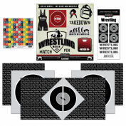 Scrapbook Customs Go Big Wrestling Themed Paper and Stickers Scrapbook Kit
