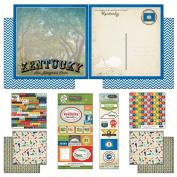 Scrapbook Customs Themed Paper and Stickers Scrapbook Kit, Kentucky Vintage