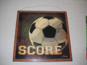 Score Soccer Ball Wooden Boys Sports Bedroom Decor Sign Wood Signs