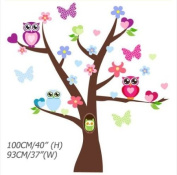 Zooyoo origin design - The Wonderful Owl World/Kid' Loving /Removable Wall Decals :100*93cm/Waterpoof Wall Sticker ZY1006