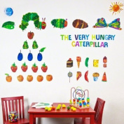 Oopsy daisy Eric Carle, .s The Very Hungry Caterpillar TM Peel and Place Childrens Wall Decals by Eric Carle, 140cm by 110cm
