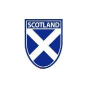 Scotland Saltire Shield Window Cling