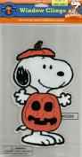 Peanuts Spooky Jelz Snoopy Dressed As Pumpkin Halloween Gel Window Cling