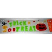 Peanuts Snoopy & Woodstock Trick or Treat Halloween Gel Window Cling Set