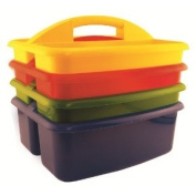 Ecr4kids Assorted 4-pack 2 Compartment Large Art Storage Caddy 3-PK