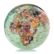 Alexander Kalifano GPW110G-PGR 4 in. Gemstone Globe Paperweight - Peridot Green Ocean