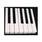 Plastic Moulded Piano Keytops with Fronts - White