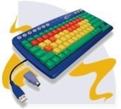 My First Keyboard By Califone Bright Colour Coded Keys