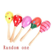 Fashion Wooden Egg Rattles Toys Children Gift--Random One