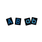 Uppercase/lowercase Tactile Letters