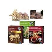 Kidz Lab Dinosaur Excavation Dig Kits - Gift Pack set of 3 - Triceratops, T-Rex, Stegosaurus
