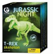 Tyrannosaurus Rex - Jurassic Night Glowing Skeleton