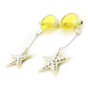"Funny glasses ""Disco"" gold."