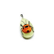 Ed Speldy East YD1106 Real Bug Necklace-Red Bug