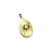 Ed Speldy East YD1102 Real Bug Necklace-Spiny Spider