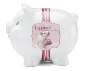 Shaded Pink by H2Z 27030 Handbag Piggy Bank, 11cm