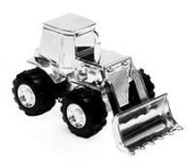 Silver Plated Digger Money Box-Christening Gift.-Silver Plated Digger Money Box-Christening Gift