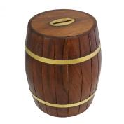 Safe Money Box Savings Banks Wood Carving Handmade By Artisan