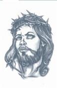 Jesus Prison Temporary Tattoo