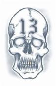 13 Skull Prison Temporary Tattoo