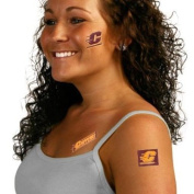 CENTRAL MICHIGAN CHIPPEWAS OFFICIAL LOGO TATOO SHEET