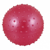 16cm Inflated Dia PVC Spiky Relaxing Massage Ball Toy Red for Kids