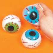 EYEBALL STICKY SPLAT BALLS (1 DOZEN) - BULK
