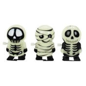 Set of 3 Wind Up Glowing Ghouls-Mummy & 2 Skeletons