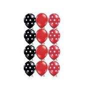 Red Black White Dot Ladybug Birthday 28cm Balloon (12) Latex