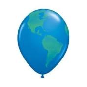 12 Globe Earth Balloons 28cm Each