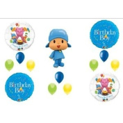 POCOYO BIRTHDAY PARTY BOY Balloons Decorations Supplies Kit FREE RIBBON!!