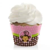 Monkey Girl - Cupcake Wrappers