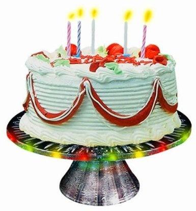 Happy Birthday Singing Cake Plate By Herbko