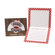 Sock Monkey Red Thank-You Notes BrownCount
