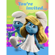 Hallmark 200688 Smurfs Invitations for Birthday Parties