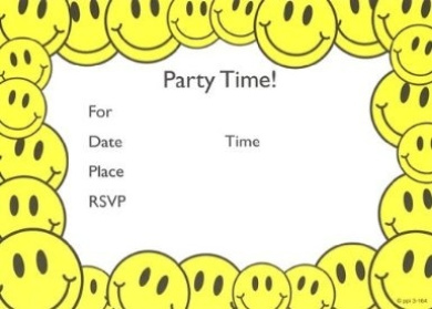 Kids Smiley Face Birthday Invitations Pack By Lil Pickle Shop - Birthday invitation nz