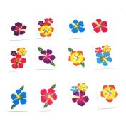 Hibiscus Glitter Tattoos : package of 36