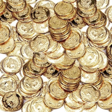 Amscan Gold Coins - 144 ct
