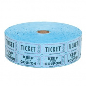 Blue Double Raffle Ticket Roll : roll of 2000
