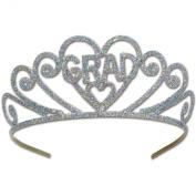 Glittered Metal Graduation Tiara Party Accessory