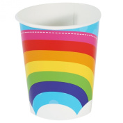 Rainbow Wishes 270ml Paper Cups