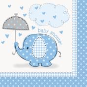 Blue Elephant Baby Shower Beverage Napkins